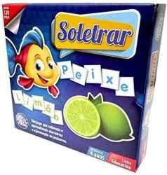 BRINCAR DE APRENDER SOLETRAR 120 PCS - ESCOLAR