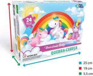 Q. CABECA UNICORNIO BABY 24 PCS