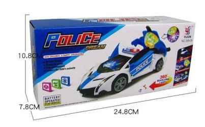 CARRO POLICE CAR SUPER POWER C SOM E LUZ
